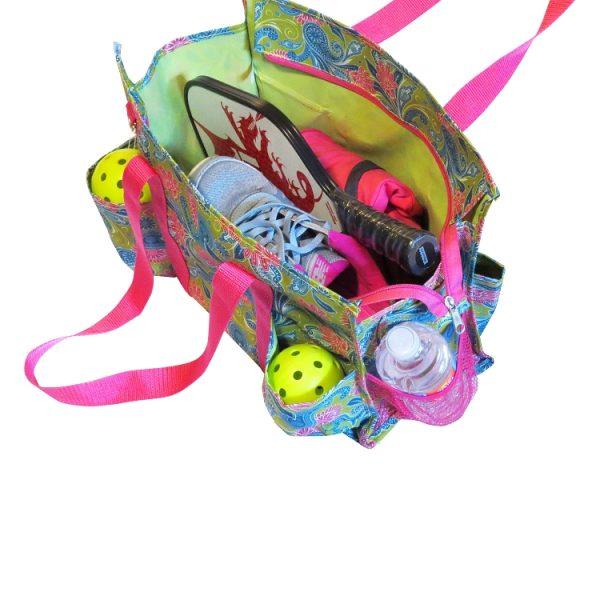 Pickleball Ready Duffle Tote Bag - Pink
