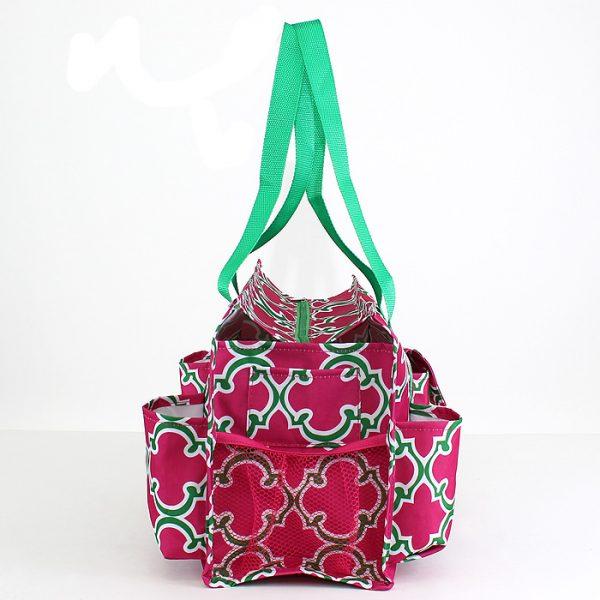 Pickleball Ready Tote Duffle Bag - Rose/Green