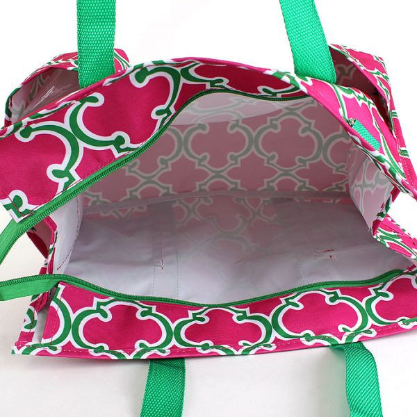 Pickleball Ready Duffle Tote Bag - Rose/Green