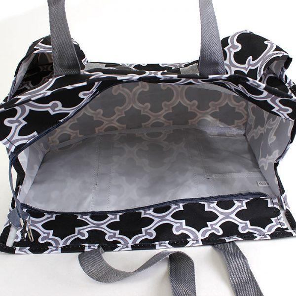 Pickleball Ready Tote Duffle Bag - Black