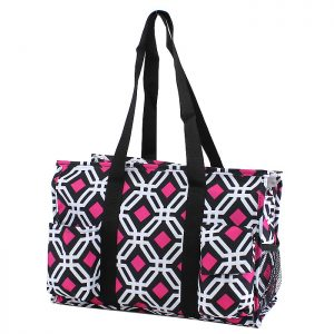 Pickleball Duffle Tote Bag - Black/Pink