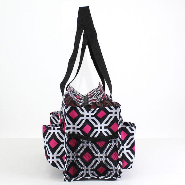 Pickleball Duffle Tote Bag - Black/Pink