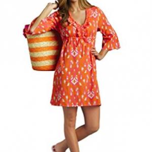 Mud Pie Women's Anna Tunic Dress - Orange