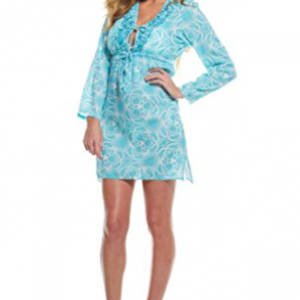Mud Pie Women's Anna Tunic - Blue Floral
