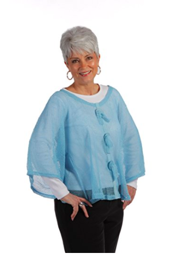 Key Largo Mesh Top by Noelle - Turquoise