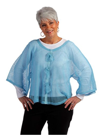 Key Largo Mesh Top by Noelle - Turquoise (2)