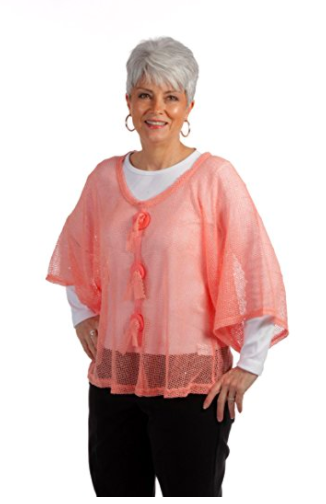 Key Largo Mesh Top by Noelle - Coral (2)