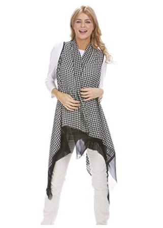 Houndstooth Scarf Wrap - Styling Option 1