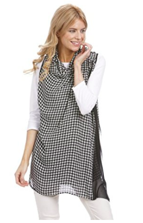 Houndstooth Scarf Wrap - Styling Option 2