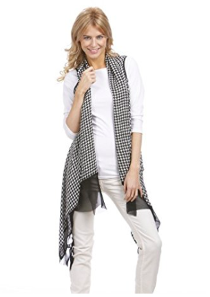Houndstooth Scarf Wrap - Styling Option 3