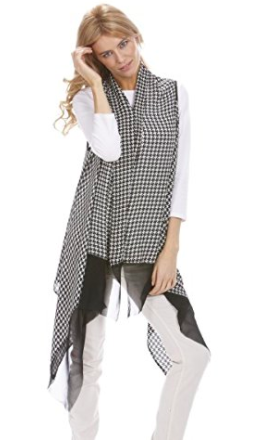 Houndstooth Scarf Wrap - Styling Option 4