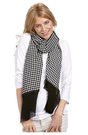 Houndstooth Scarf Wrap - Styling Option 5