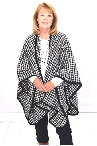 Houndstooth Poncho