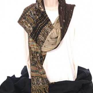 Reversible Scarf - Brown