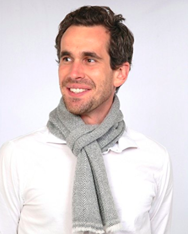 Cashmere Men's Scarf - Grey