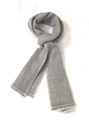 Cashmere Men's Scarf - Grey - Full Length View (2)