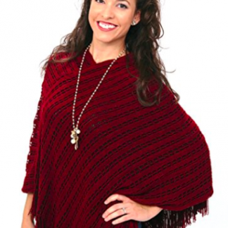 Fall Poncho - Rust Red
