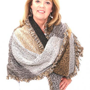 Poncho Blanket Wrap - Neutral Colors