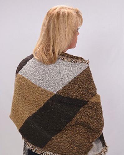 Poncho Blanket Wrap - Back View