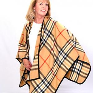 Poncho Blanket Wrap - Tartan Plaid