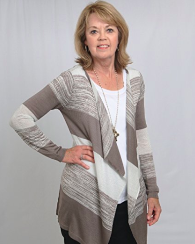 Sweater Shawl Wrap - Neutral Colors - View 2