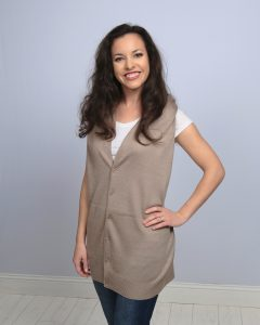 Taupe Button Wrap - Vest