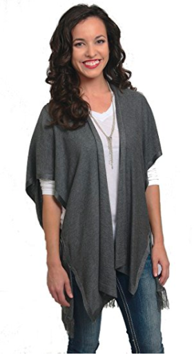Shawl Cardigan Wrap - Grey