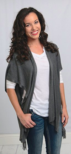 Shawl Cardigan Wrap - Front View (2)