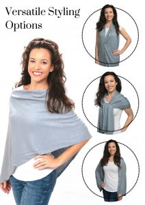 Silver Grey Women's Shawl - 4 Styling Options
