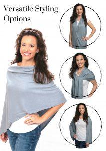Silver Grey Women's Shawl - 4 Styling Options